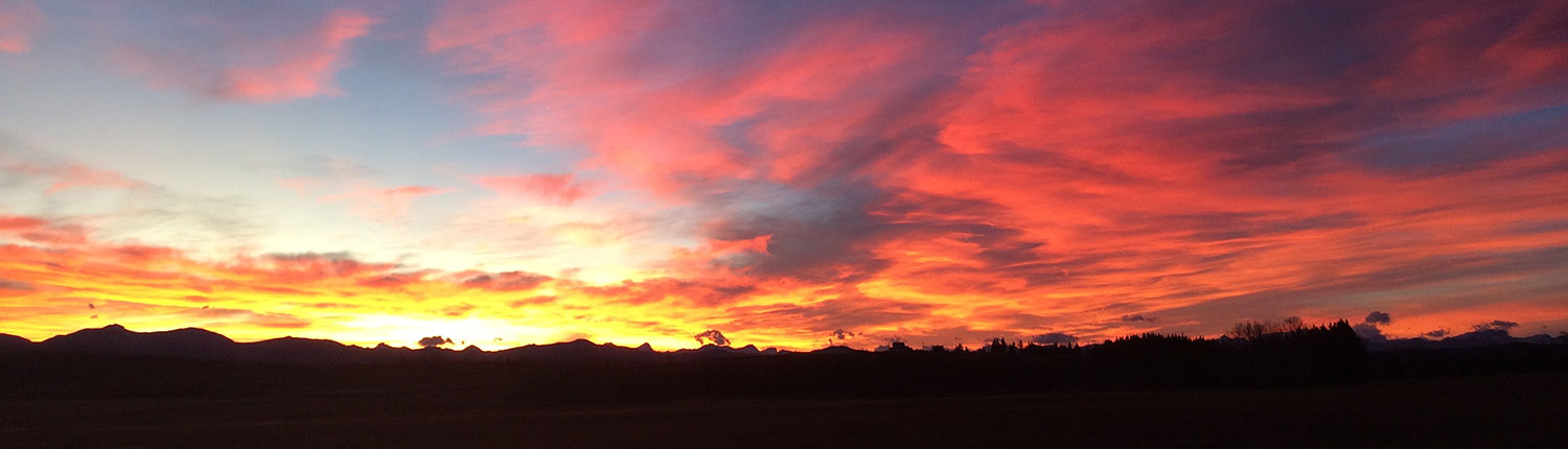 McNeice Outfitting Ltd. Ranch sunset